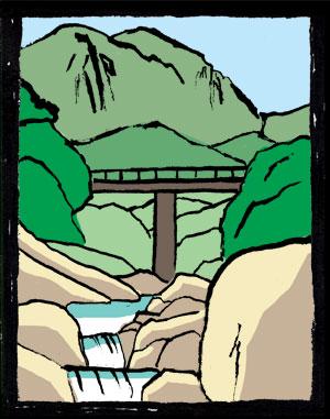 秘境 仙境 祝子渓谷