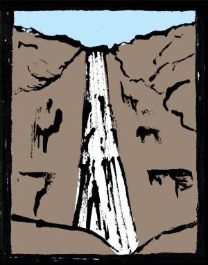 落差千尋 行縢の滝