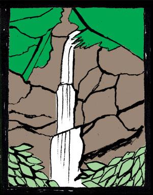 緑 清風 那智の滝